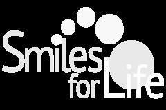 Smiles for Life in Auburn, IN logo in white