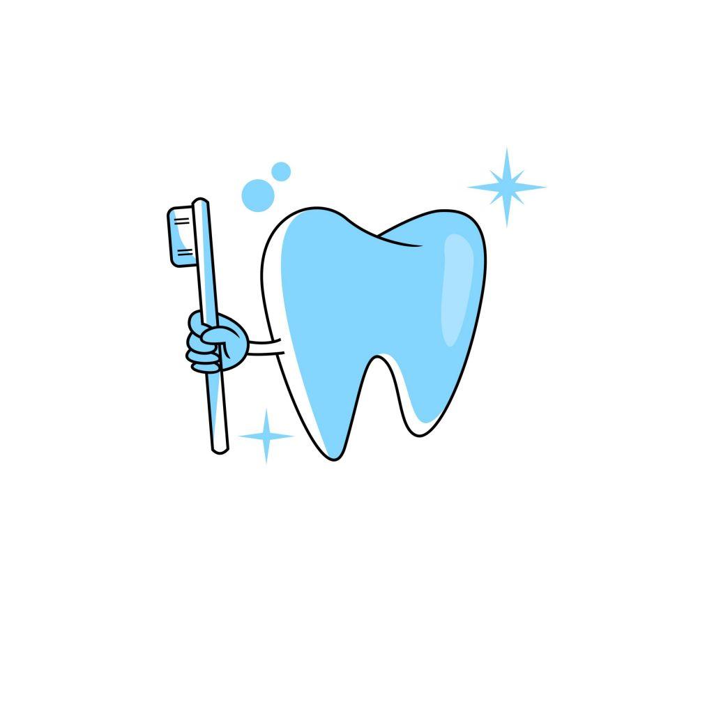 Oral hygiene illustration